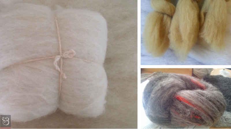 Nappes de laine cardées
